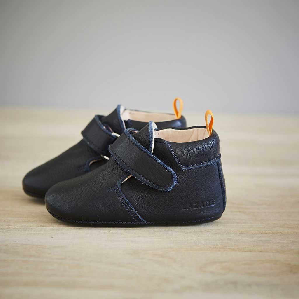 Lazare chaussons bébé modèle Achille bleu