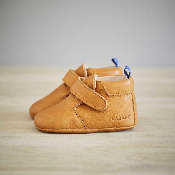 Lazare chaussons bébé modèle Achille camel