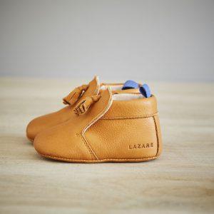 Lazare chaussons bébé modèle Basile camel