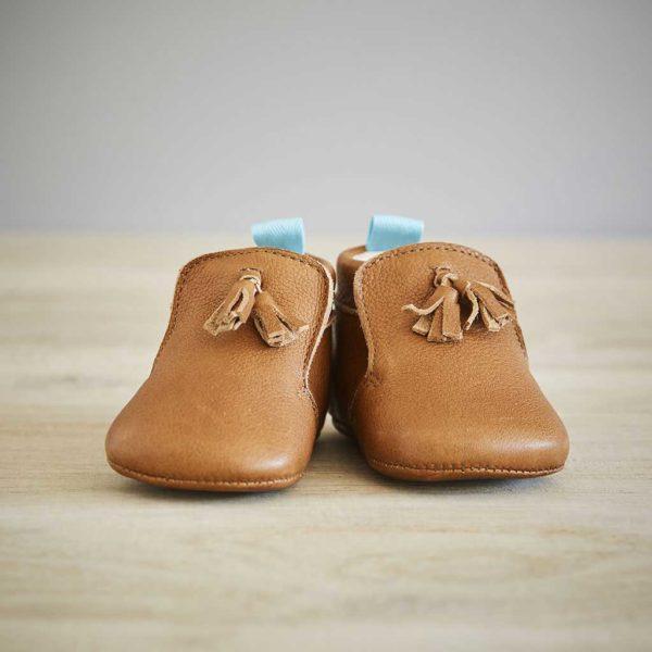 Lazare chaussons bébé modèle Basile marron