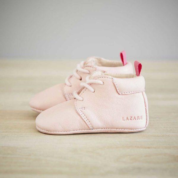 Lazare chaussons bébé Colombe rose