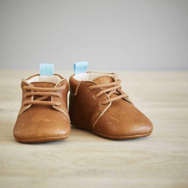 Lazare chaussons bébé Colombe marron