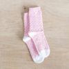 chaussettes rose à pois