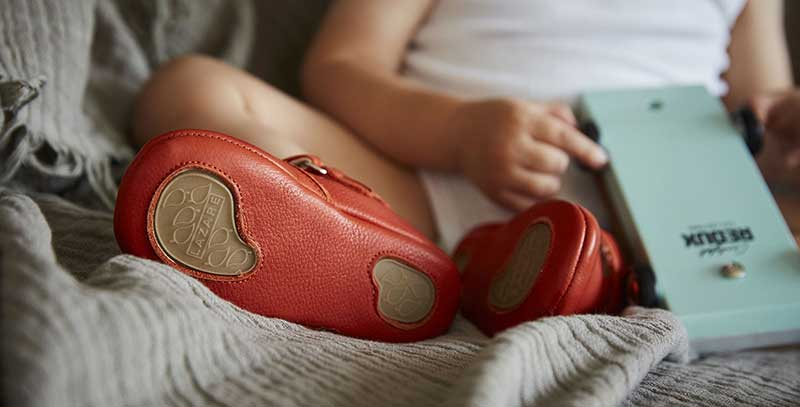 lazare chaussons bebe achille cuir naturel