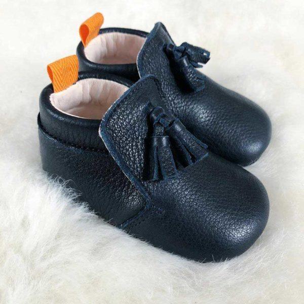Lazare chaussons Basile bleu
