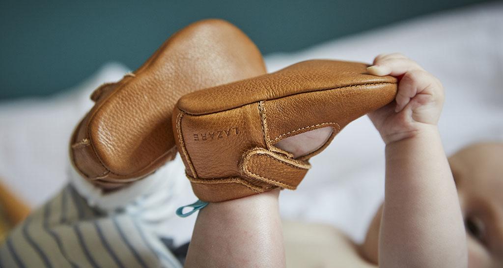lazare chaussons cuir souples naturels