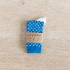 chaussettes coton biologique lazare kids à pois bleu