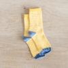 chaussettes coton biologique rayées lazare kids jaune