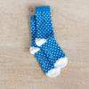chaussettes coton biologique lazare kids bleu à pois