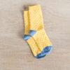 chaussettes coton biologique lazare kids jaune à pois
