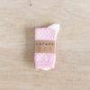 chaussettes coton biologique lazare kids à pois rose