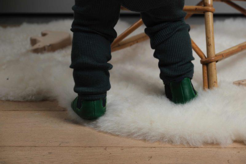 Lazare kids chausson souple vert