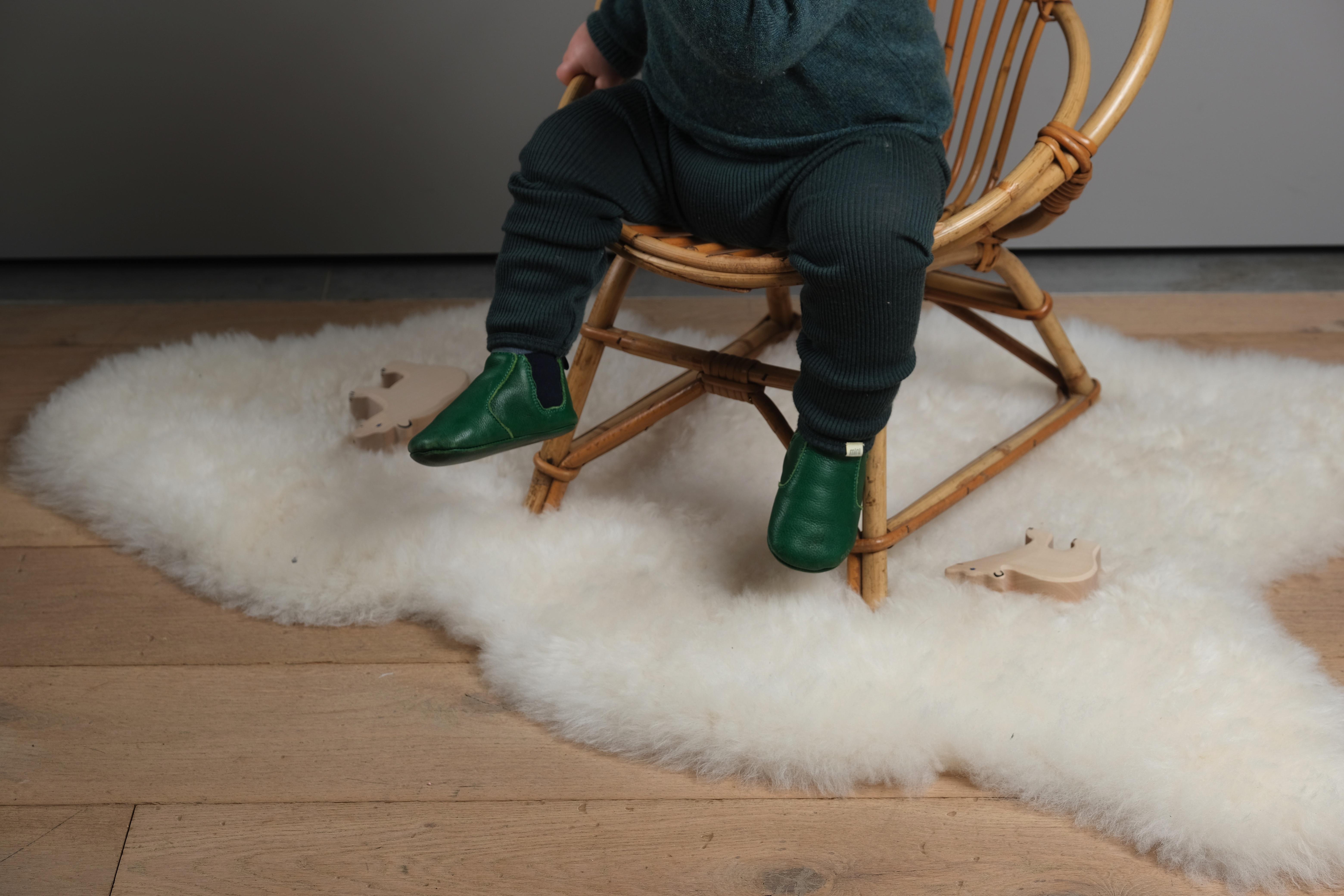 chausson souple lazare kids Oscar vert