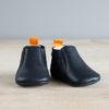 chausson chelsea boots bleu marine de face