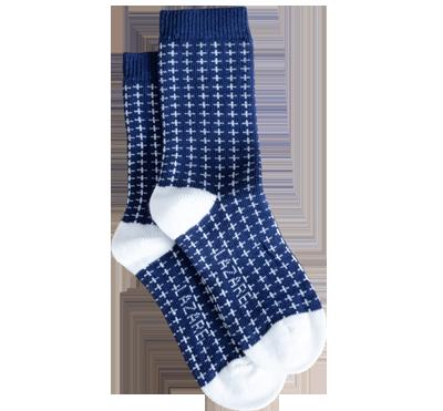chaussettes à croix bleu lazare kids