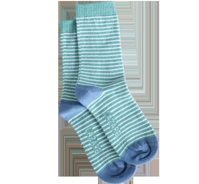 chaussettes rayées verte lazare