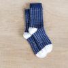 chaussettes coton biologique lazare kids bleu à croix