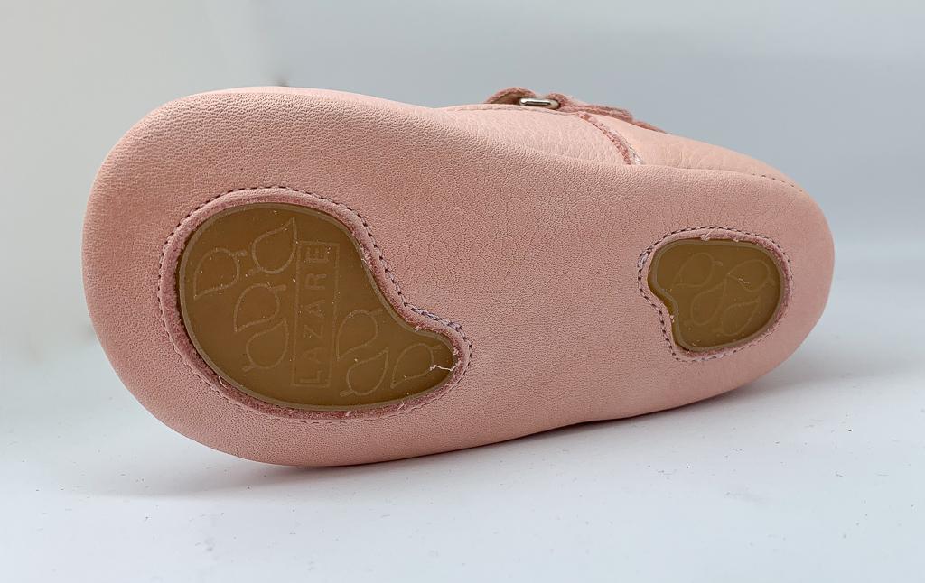 semelle souple antidérapante chaussure premiers pas effet pied nu