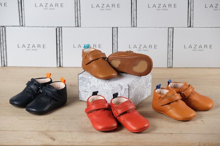 Collection chaussons Achille en cuir souple plusieurs couleurs