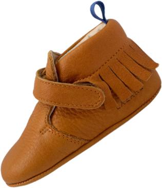 chaussons bébé en cuir souple Eliot camel
