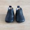 chausson à élastique bleu marine et bleu de haut
