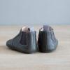 chausson en cuir gris arrière
