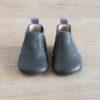chausson en cuir gris haut
