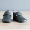 chaussons bébé en cuir souple Achille gris