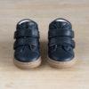 chaussures premiers pas souple Hector à scratchs bleu marine vu dessus