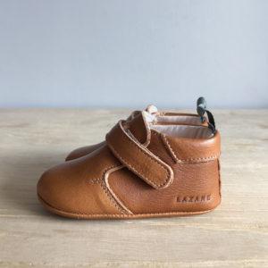 Chaussons bébé Achille marron-kaki