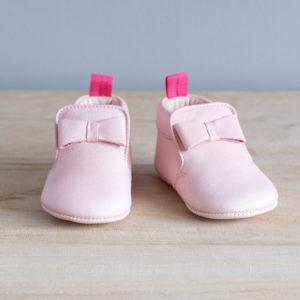 Chaussons bébé Arielle rose