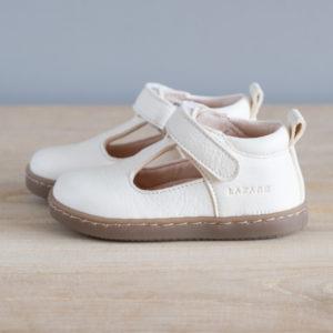 Chaussures premiers pas Hippolyte blanc cassé