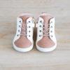 chaussures premiers pas Alegria blanc cassé - blanc en cuir souple vu de face