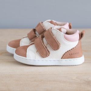 Chaussures premiers pas Mélodie blanc cassé