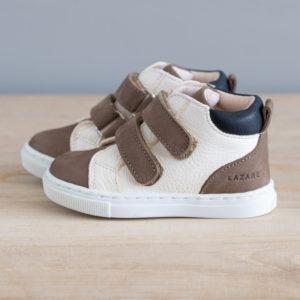 Chaussures premiers pas Hector blanc cassé