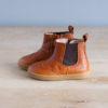 boots-chaussures-premiers-pas-Axelle-calvados-elastique-marron-vu-de-cote