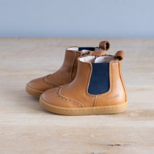 Chaussures premiers pas Axelle marron-marine