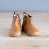 boots-chaussures-premiers-pas-Axelle-marron-elastique-bleu-vu-de-face