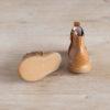 boots-chaussures-premiers-pas-Axelle-marron-elastique-bleu-semelle-caoutchouc