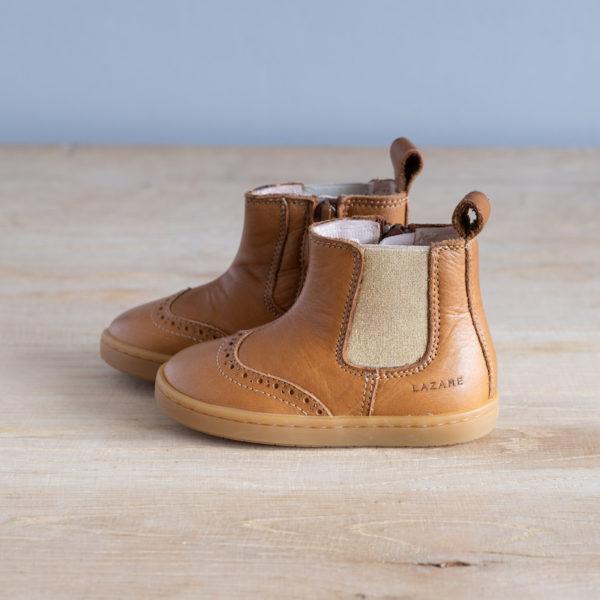 Chaussures premiers pas Axelle marron-doré
