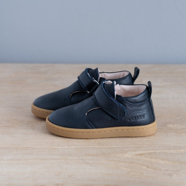 Chaussures premiers pas Jules bleu marine et miel