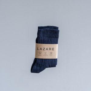 Chaussettes bébé côtelées bleu marine