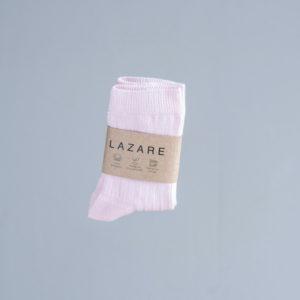 Chaussettes bébé côtelées rose