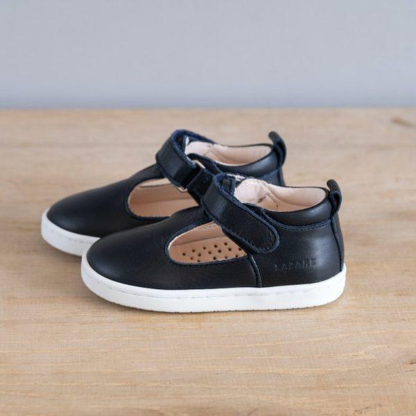 Chaussures premiers pas Hippolyte bleu marine