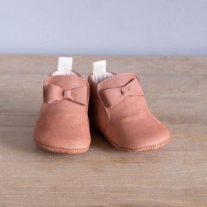 Chaussons bébé Arielle blush nubuck