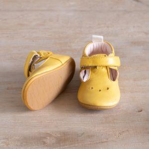 Chaussons bébé pauline jaune