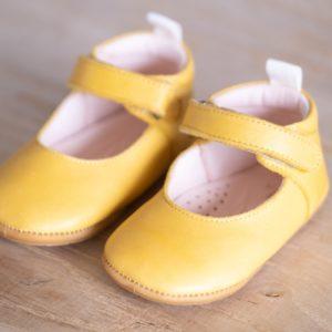 Chaussons bébé Violette jaune