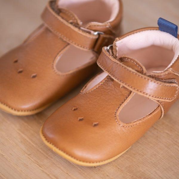 Chaussons bébé pauline marron