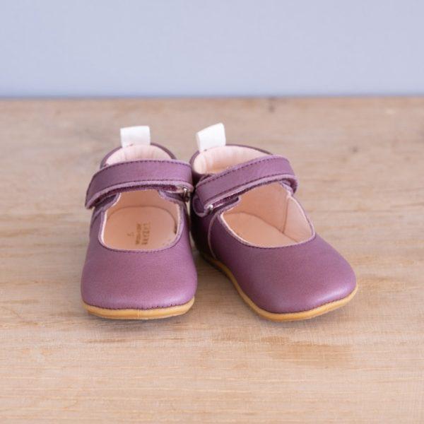 Chaussons bébé Violette prune