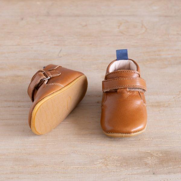 Chaussons bébé Achille marron